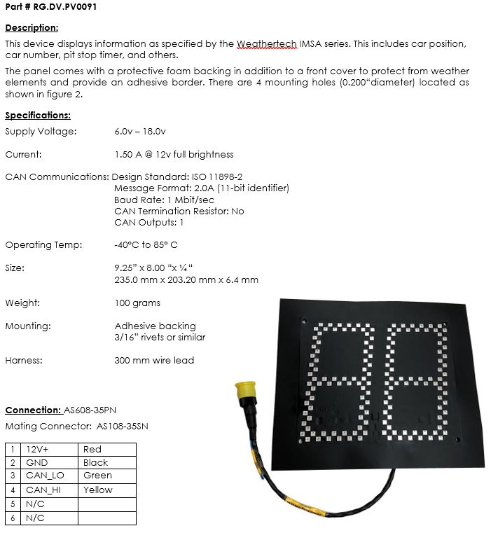 imsa weathertech leader light panel rh milspecwiring com