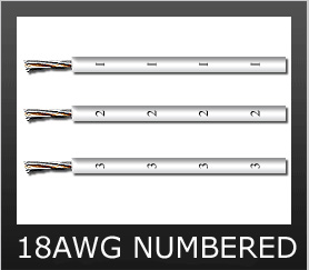 18AWG WHITE NUMBERED