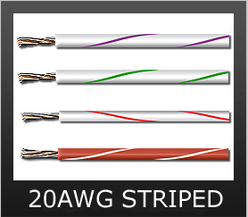 20AWG STRIPED COLORS