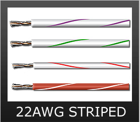 22AWG STRIPED COLORS