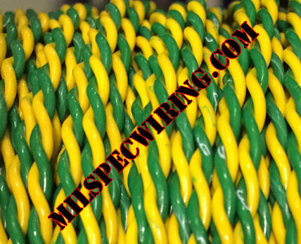 22AWG YELLOW/GREEN 2-TPI