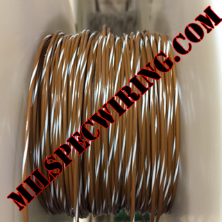 26AWG Wire, BROWN/WHITE