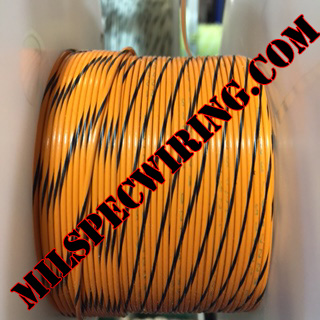 20AWG Wire, ORANGE/BLACK