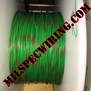 20AWG Wire, GREEN/BROWN