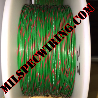 26AWG Wire, GREEN/RED