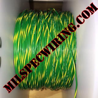 26AWG Wire, GREEN/YELLOW