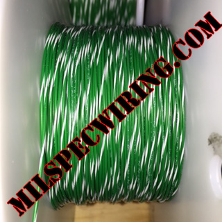 26AWG Wire, GREEN/WHITE
