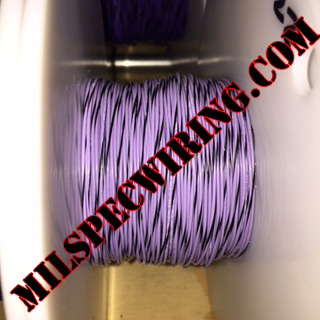 24AWG Wire, VIOLET/BLACK