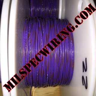 22AWG Wire, VIOLET/BROWN