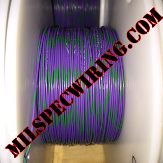 22AWG Wire, VIOLET/GREEN