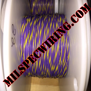 22AWG Wire, VIOLET/YELLOW