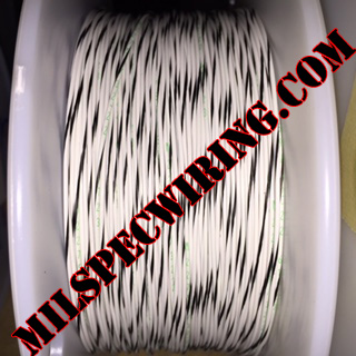 20AWG Wire, WHITE/BLACK