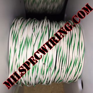 26AWG Wire, WHITE/GREEN