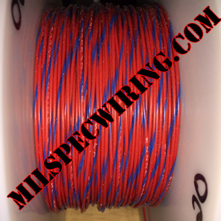 26AWG Wire, RED/BLUE