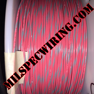 26AWG Wire, RED/GRAY