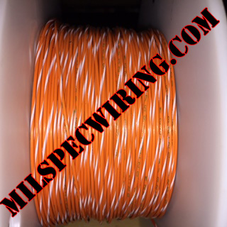 26AWG Wire, ORANGE/WHITE