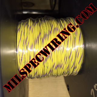 26AWG Wire, YELLOW/VIOLET