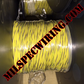 26AWG Wire, YELLOW/GRAY