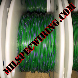 24AWG Wire, GREEN/VIOLET