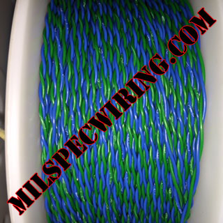22AWG BLUE/GREEN 2-TPI