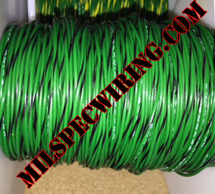 20AWG Wire, GREEN/BLACK