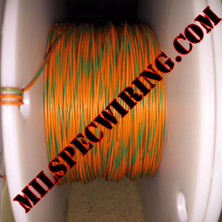 26AWG Wire, ORANGE/GREEN