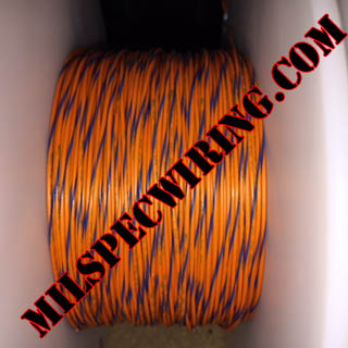 26AWG Wire, ORANGE/BLUE
