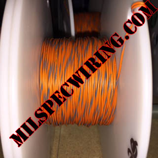 26AWG Wire, ORANGE/GRAY