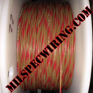 22AWG Wire, BROWN/RED