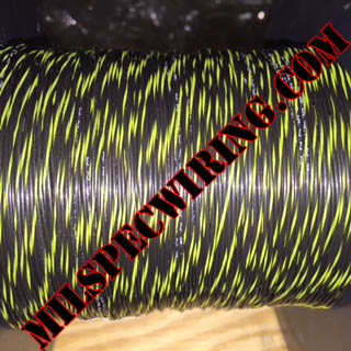22AWG Wire, BLACK/YELLOW