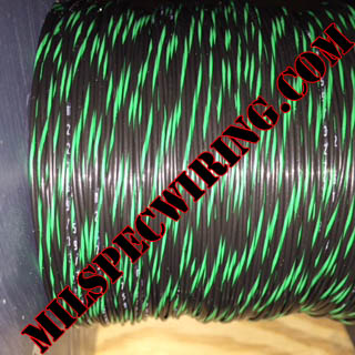22AWG Wire, BLACK/GREEN