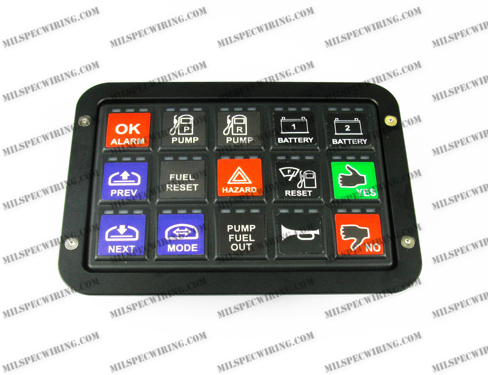 RACEGRADE FLUSH MOUNT BEZEL FOR 15 BUTTON KEYPAD