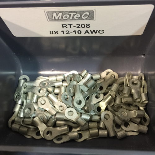10-12 AWG RING TERMINALS, #8 EYE