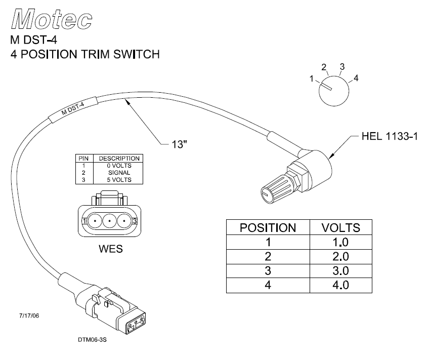 4 position trim switch