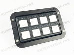 RACEGRADE FLUSH MOUNT BEZEL FOR 8 BUTTON KEYPAD