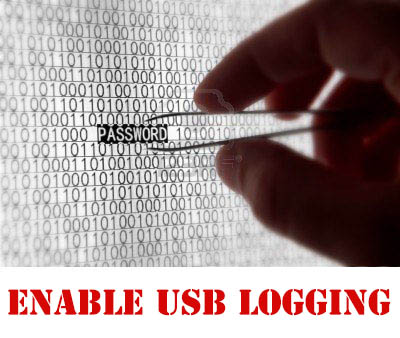 C125 / C127 / C1212 ENABLE USB LOGGING