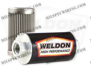 -10AN 100 Micron Stainless Filter Assembly