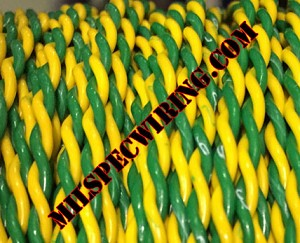 24AWG YELLOW/GREEN 2-TPI