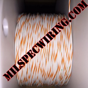 22AWG Wire, WHITE/ORANGE