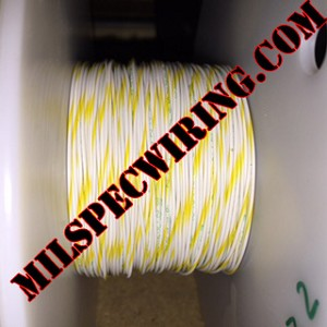 24AWG Wire, WHITE/YELLOW