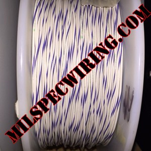20AWG Wire, WHITE/VIOLET