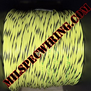 24AWG Wire, YELLOW/BLACK