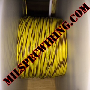 26AWG Wire, YELLOW/BROWN