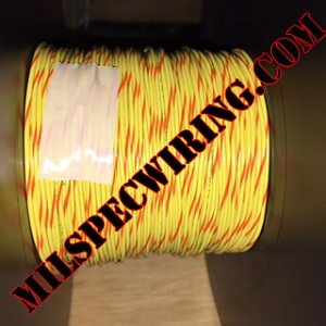26AWG Wire, YELLOW/ORANGE
