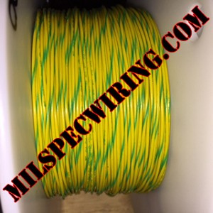 26AWG Wire, YELLOW/GREEN