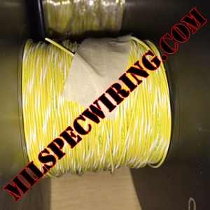 18AWG WIRE - YELLOW/WHITE