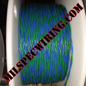 22AWG BLUE/GREEN 1-TPI