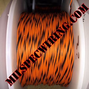 26AWG Wire, ORANGE/BLACK