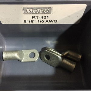 "1/0 AWG RING TERMINALS 5/16"" EYE"